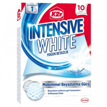 K2R INTENSE WHITE YOGUN BEYAZLIK 10 MENDIL
