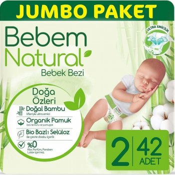 BEBEM JUMBO NATURAL MINI 42LI