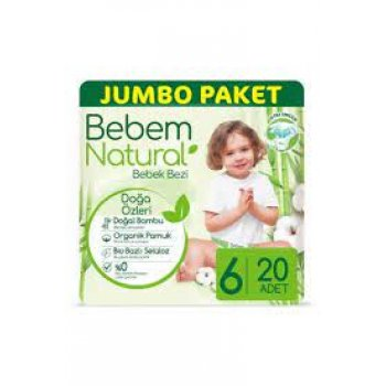 BEBEM JUMBO NATURAL E.LARGE 20LI